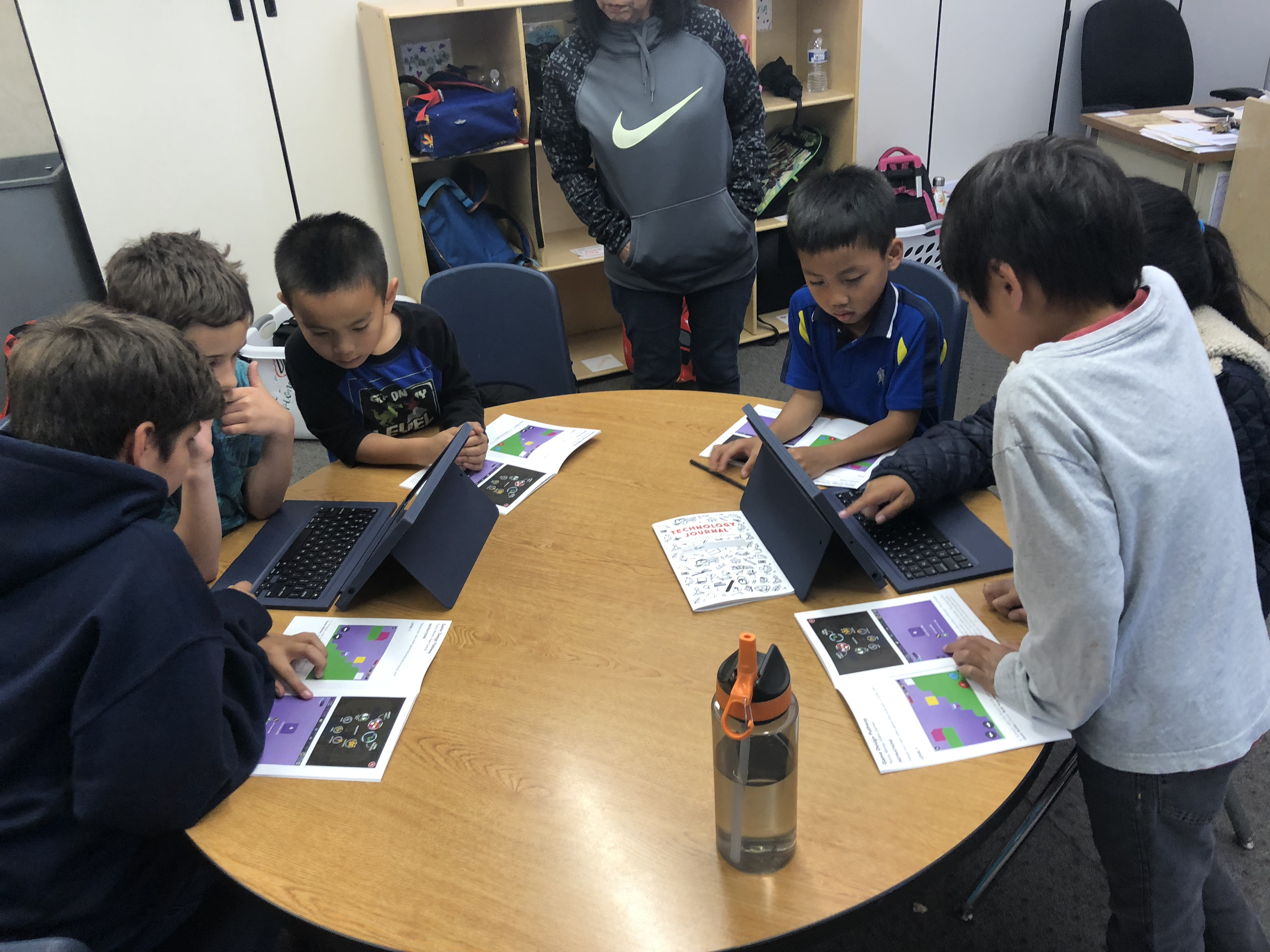 Students explore and learn while engaging with a technology-integrated curriculum.