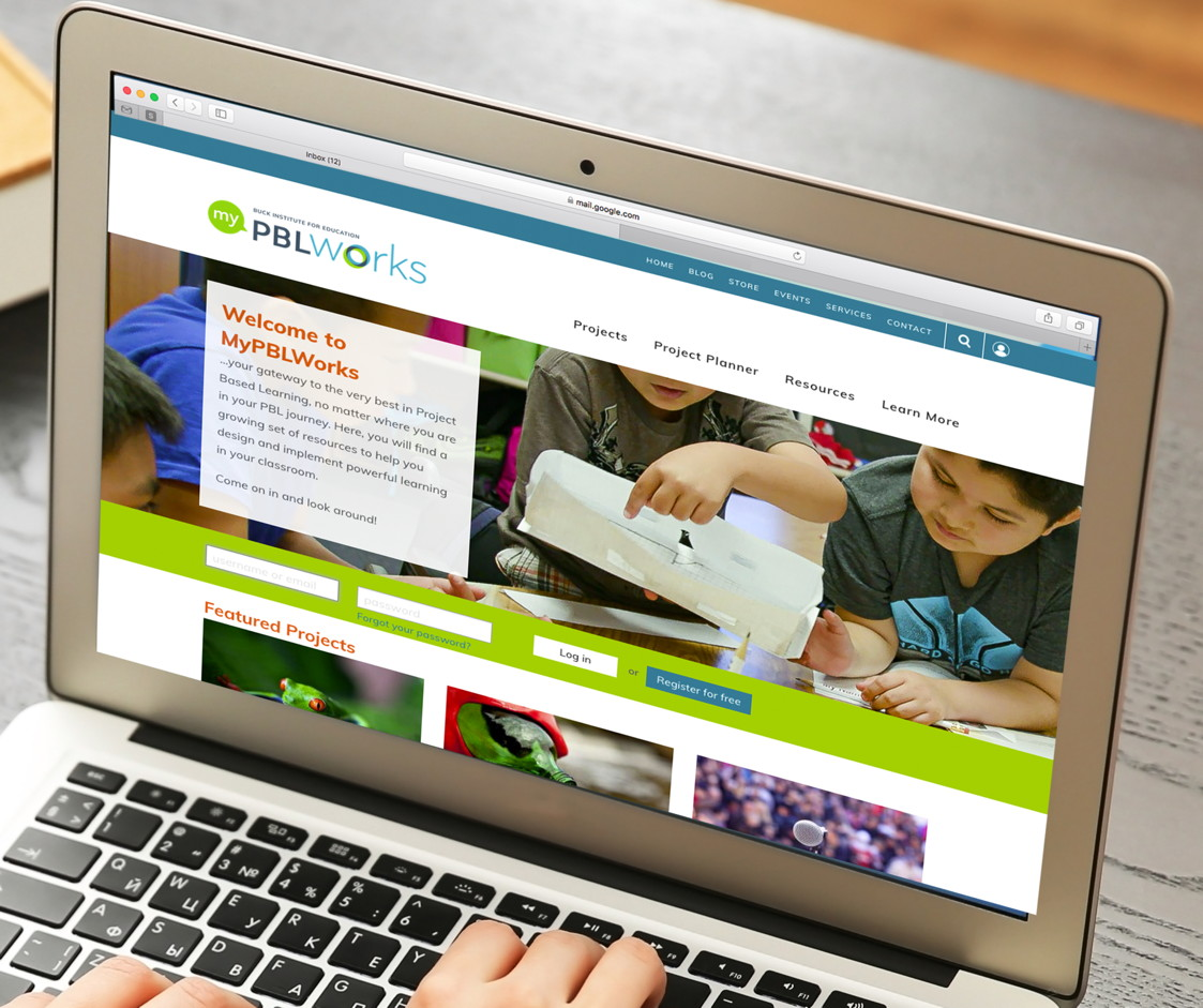 Welcome to MyPBL Works. Professional Learning Platform home page