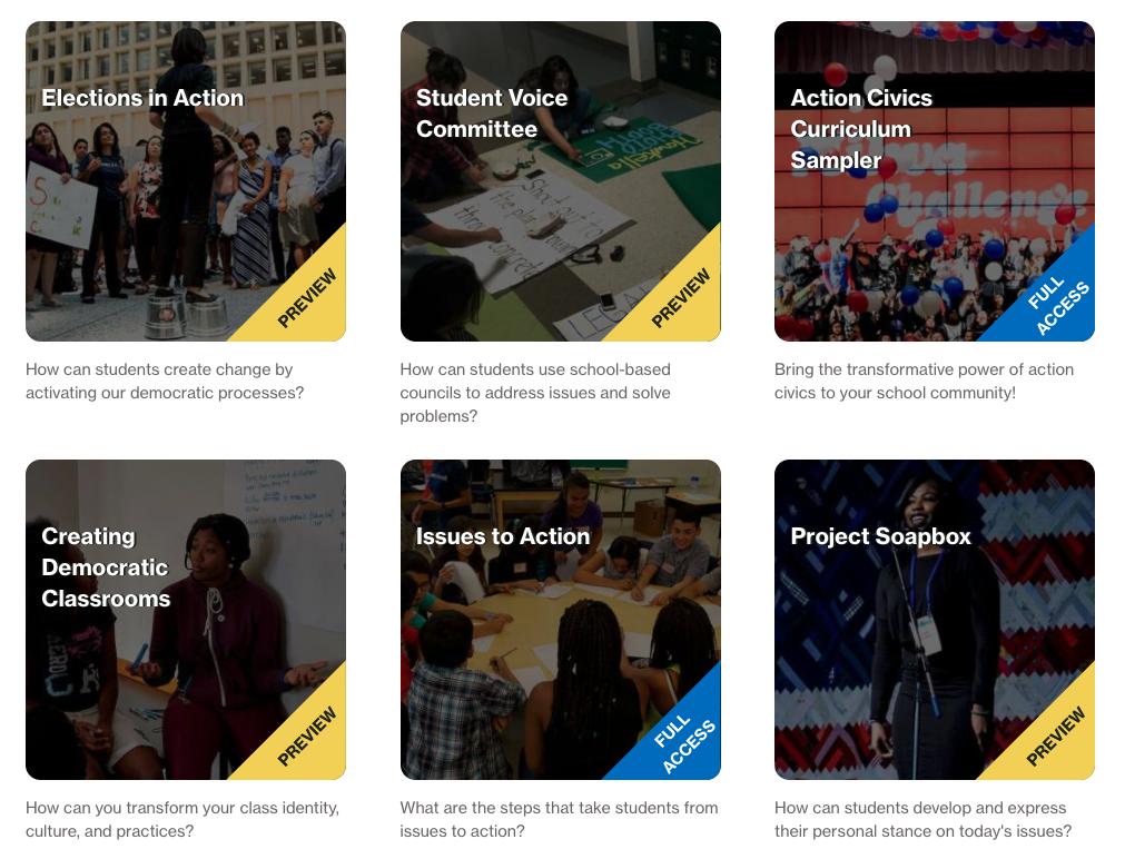 screenshot of a resource in the Mikva Challenge curriculum platform